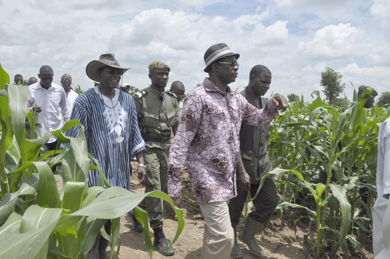 Suivi de la campagne agricole 2011-2012 à l'Est : Le Premier ministre boucle sa tournée dans la province de la Kompienga