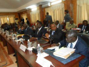 Ministres burk à la réun sectorielle