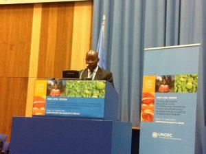 Min Bougouma à la 57ème session commission Onu lutte contre la drogue 03 14