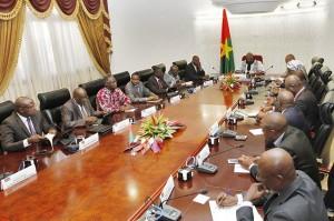 Prise de contact du nouveau gouvernement avec le Président du Faso